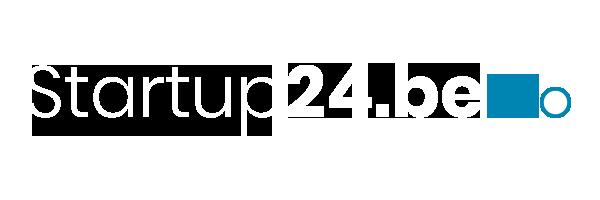 Logo startup24BE wit